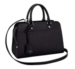 Louis Vuitton Epi Leather Top Black Handles Handbag Vaneau