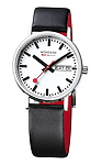 Mondaine Men's A667.30314.11SBB Classic Gents Day-Date Leather Band Watch