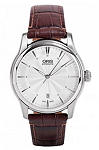 Oris Artelier Silver Dial Leather Strap Men's Watch 73376704051LS