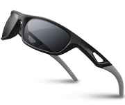 RIVBOS Polarized Sports Sunglasses Driving Glasses Shades for Men TR90 Unbreakable Frame